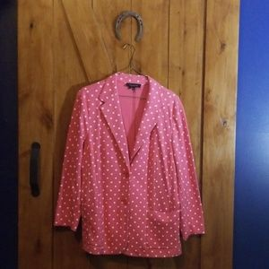 NEW XL Talbots Pink Polka-dot Blazer